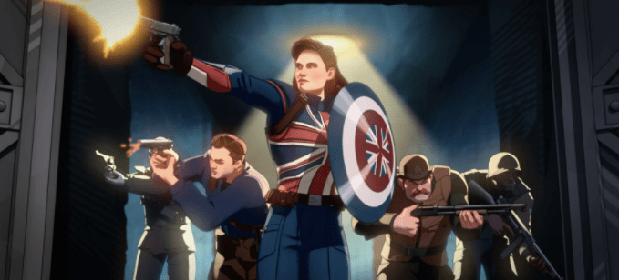 Still frame from What If...? featuring Captain Carter