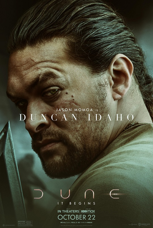 Dune character poster featuring Jason Momoa as Duncan Idaho