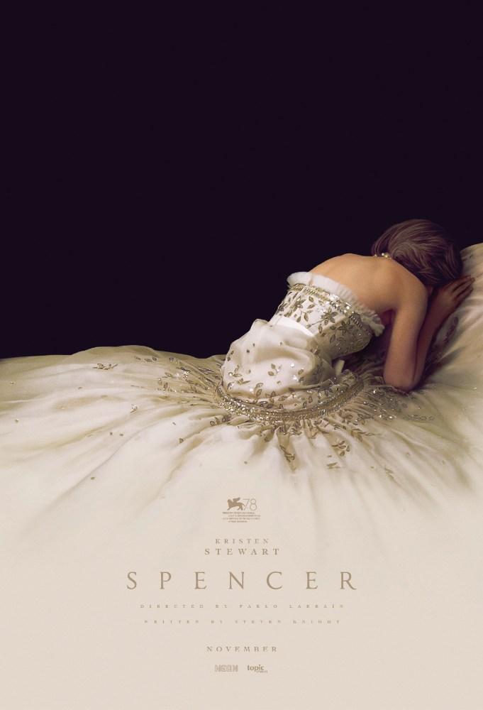Poster for Spencer featuring Kristen Stewart as Princess Diana