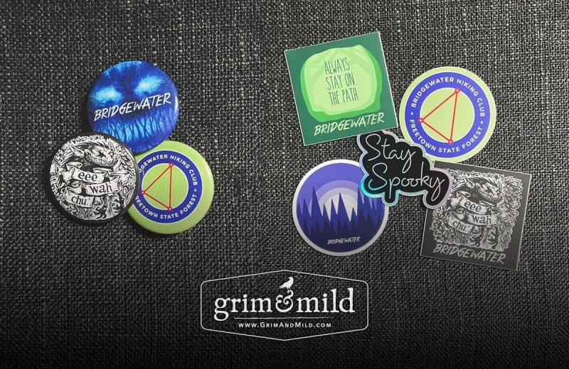 bridgewater pins and stickers