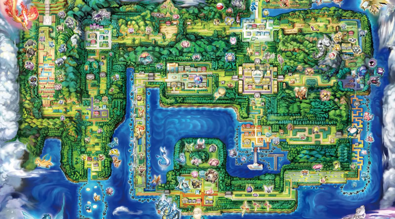 Pokémon: Let's Go Kanto Map Karte