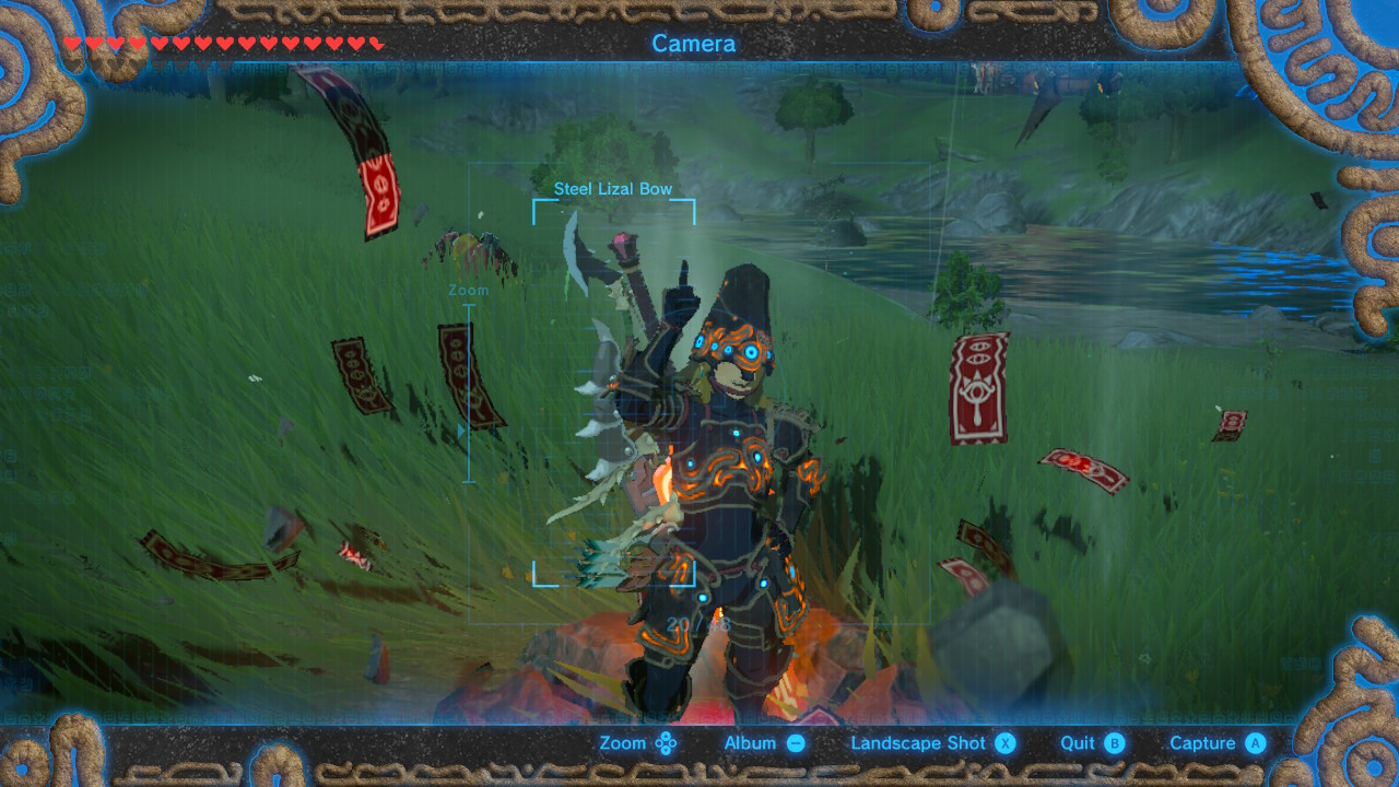 Legend of Zelda: Breath of the Wild selfie 2