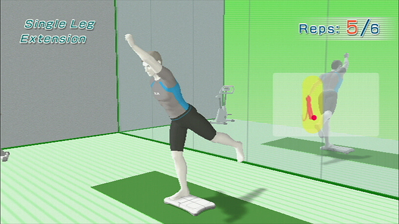Gaming during exercise wii fit