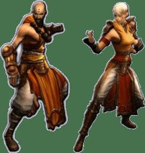 Diablo 3 monks male female kharazim