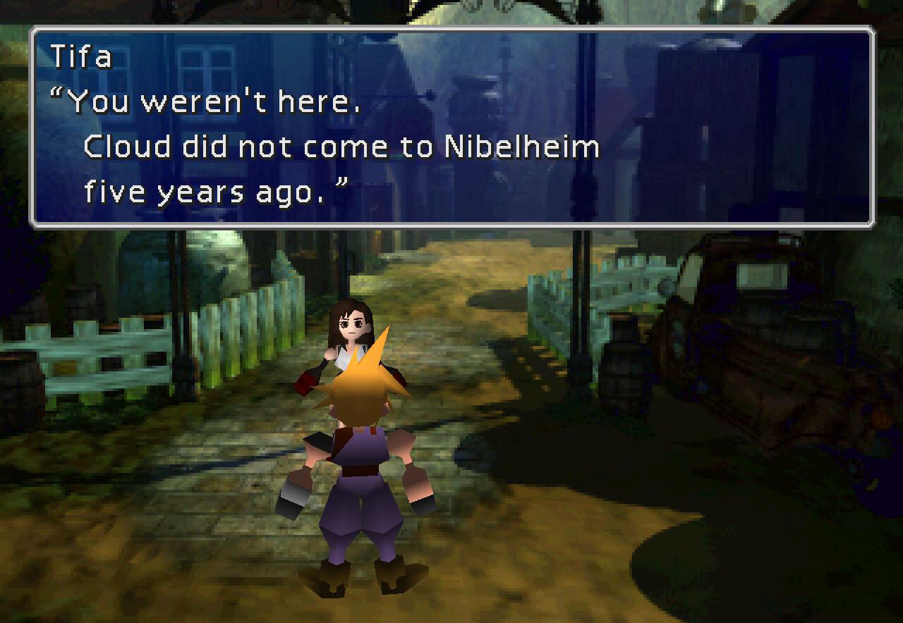 Final Fantasy VII Nibelheim Tifa Cloud