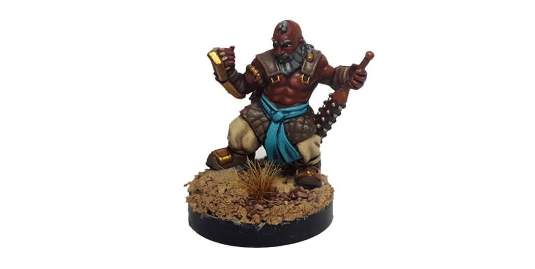 Dwarf monk figurine shapeways mistwalker foundry