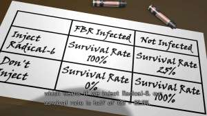 Zero Escape: Zero Time Dilemma Probability FBR Radical-6
