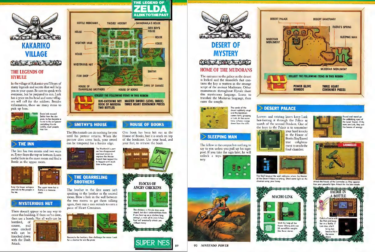A Link to the Past Spread Nintendo Power Issue 34 March 1992