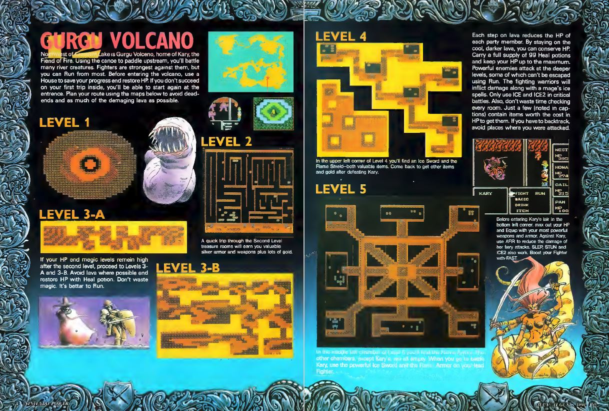 Final Fantasy Spread Nintendo Power Issue 14 July - August 1990