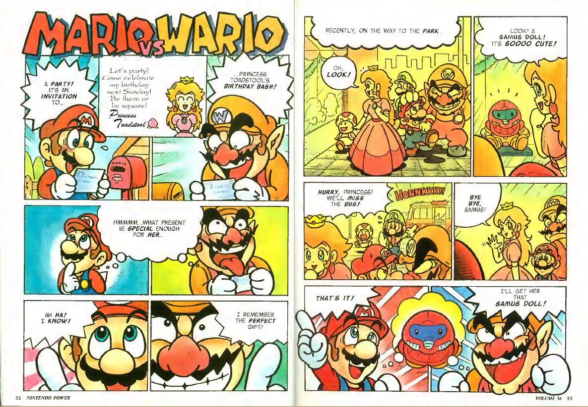Mario vs Wario Nintendo Power Comic Issue 56 January 1994