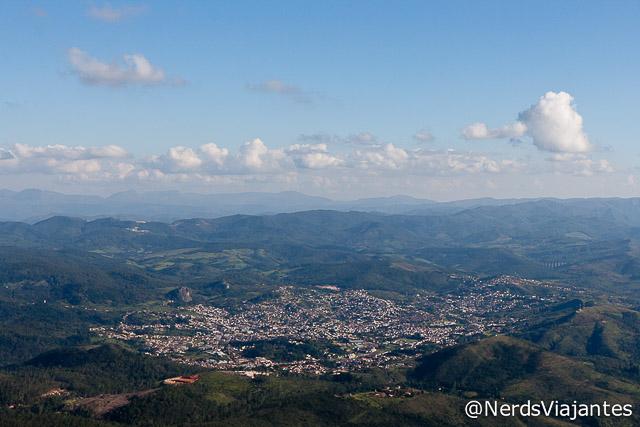 Cidade de Caeté vista do alto da Serra da Piedade - Minas Gerais