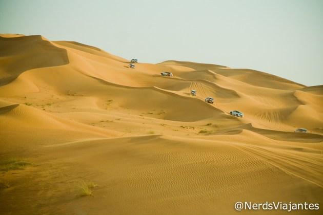Passeio no deserto de Dubai