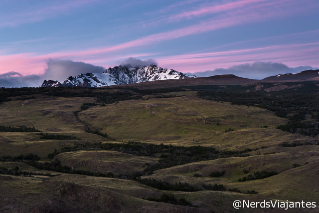 Topo do Cerro Huemul visto do Mirador de Los Condores - Patagônia Argentina