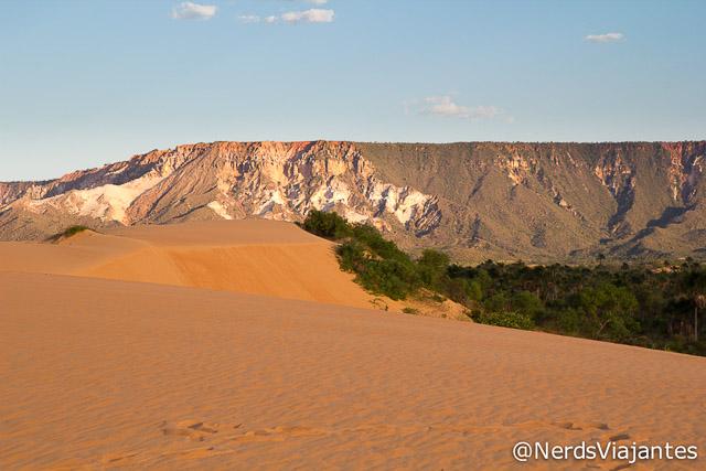 Serra do Espírito Santo vista das dunas do Jalapão - Tocantins