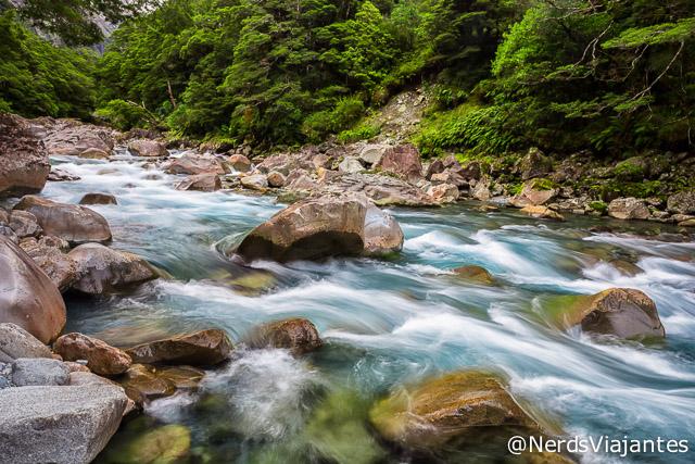 Hollyford River, no Fiordland National Park - Nova Zelândia