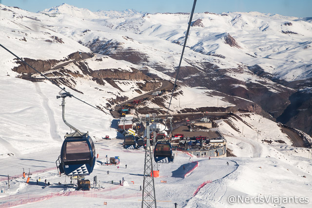 Passeando de gôndola no Valle Nevado - Chile