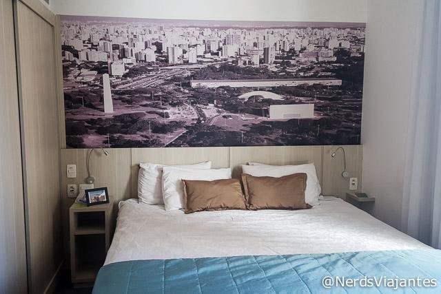 Quarto do Hotel Quality Suites Oscar Freire em São Paulo - SP