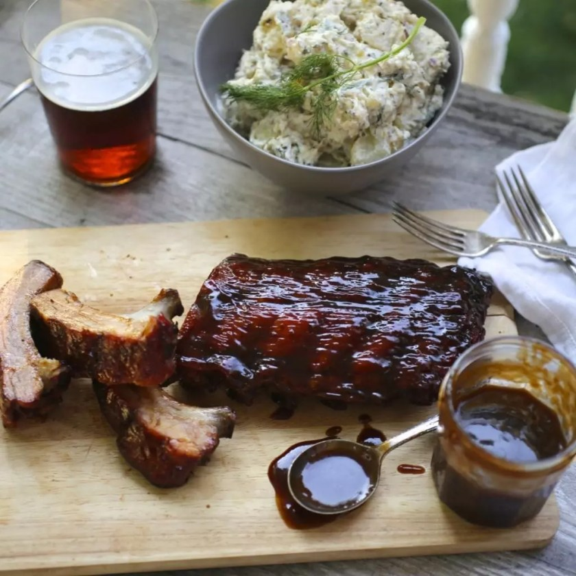 Baby Back Ribs With Coffee-Honey Barbecue Sauce