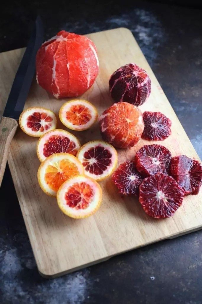 Blood Orange Salad with Shaved Fennel and Pistachios