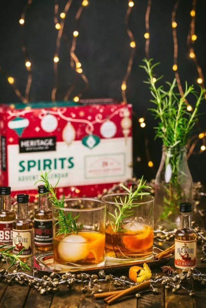 Spiced Rosemary old fashioned