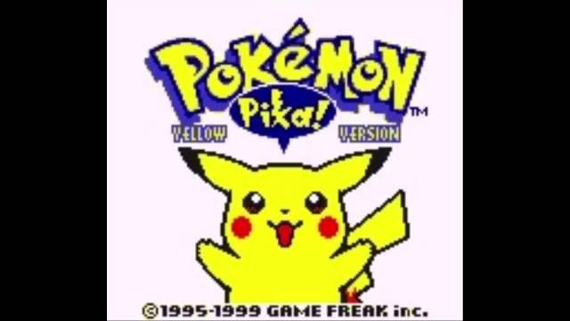 pokemon yellow title screen