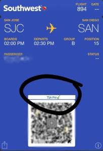 southwest boarding tsa precheck