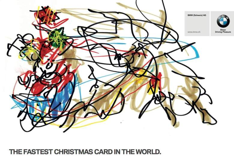 BMW's Fastest Christmas Card in the World Direct Mail Piece