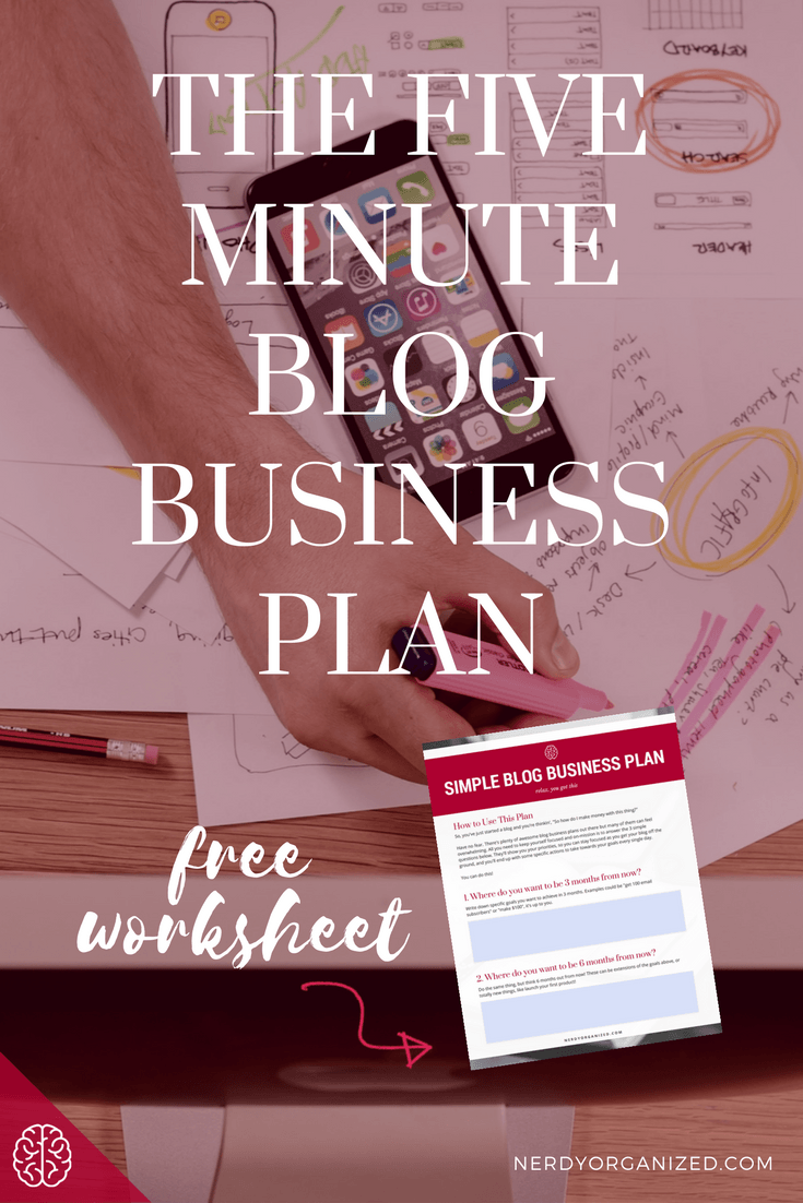 How to create a simple blog business plan free template nerdy how to create a simple blog business plan free template accmission Images