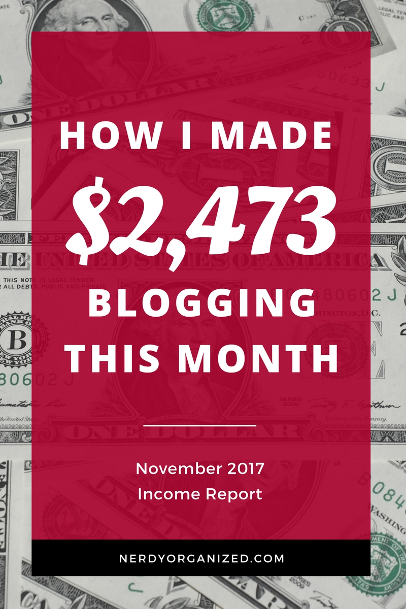 I made over $2,400 blogging part-time in November! Read how I did it and what I invest in to keep my biz running on autopilot. :) #blogging #incomereport #makemoneyblogging #bloggingtips #blogger