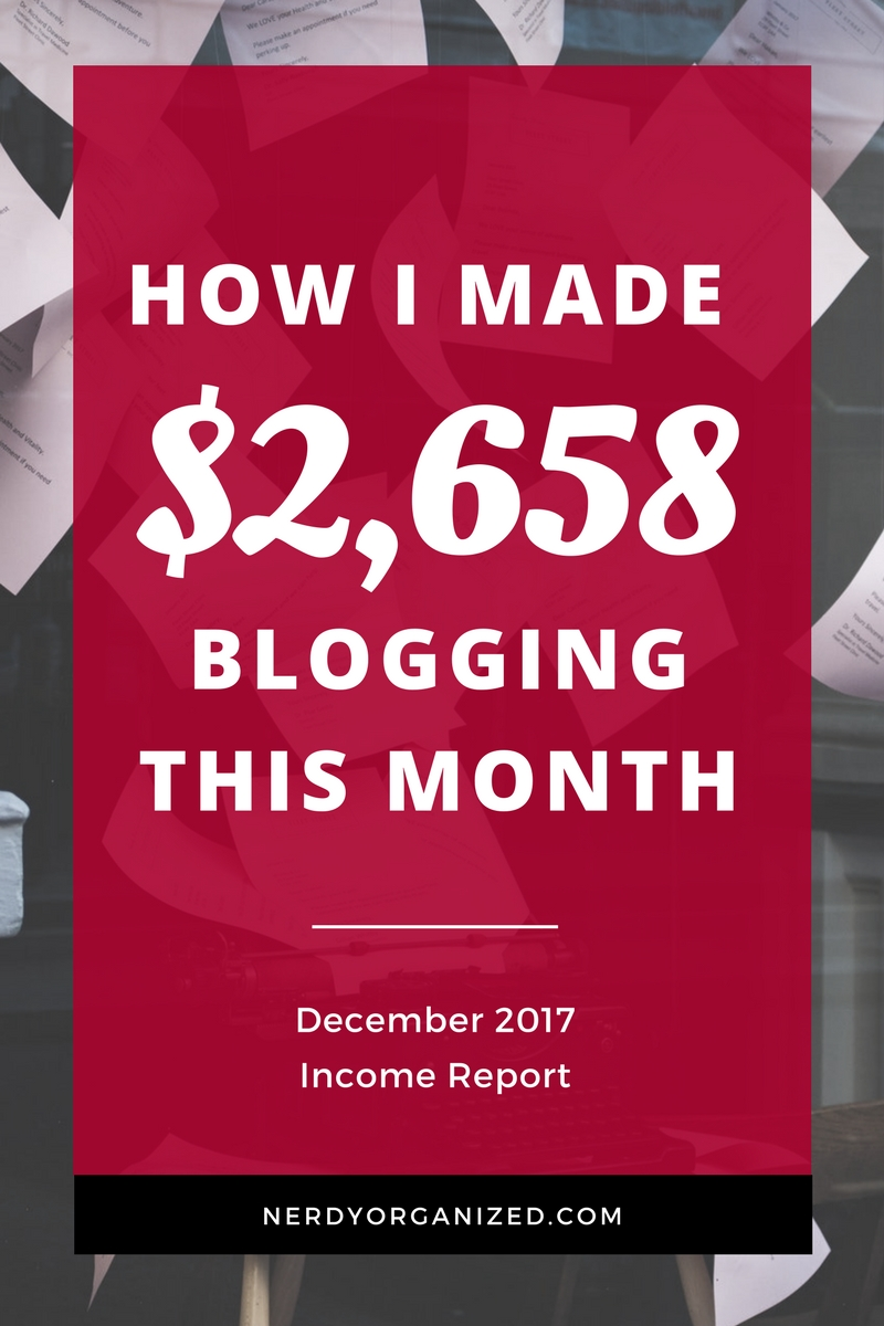 December 2017 Blog Income Report