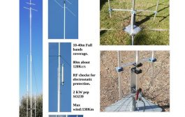 Vertical Antenna 8 bands trapped (10-12-15-17-20-30-40-80m) with wire radials  1/4 lambda for each one band.
