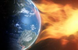 A Coronal Hole Blows, A Perseid Shower, & Mars: Solar Storm Forecast 08-15-2019