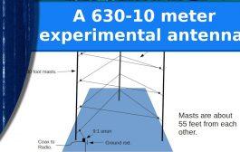 A 630-10 meter experimental antenna. Part 1, the plan.