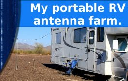 My portable RV antenna farm
