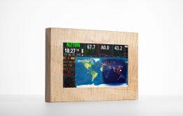 HF Clock / Satellite Tracker /Solar Index Touchscreen Terminal