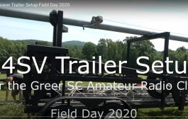 K4SV Tower Trailer Setup Field Day 2020