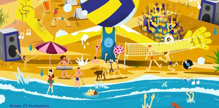 Neringa FM Beachball Fest 17 NIDA