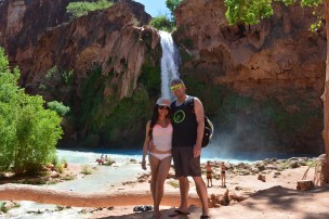 Me and Kyle in fron of Havasu Falls