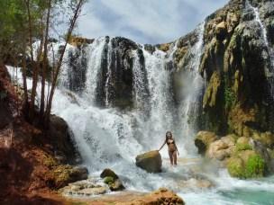 me in front of lower navajo falls in supai