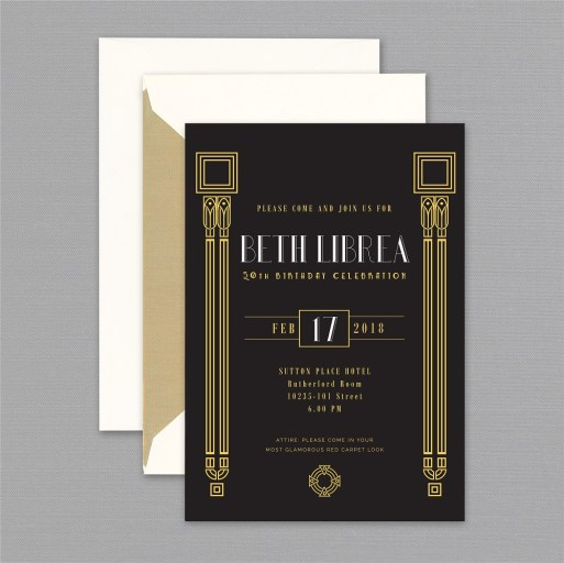 Art Deco Invitations Design