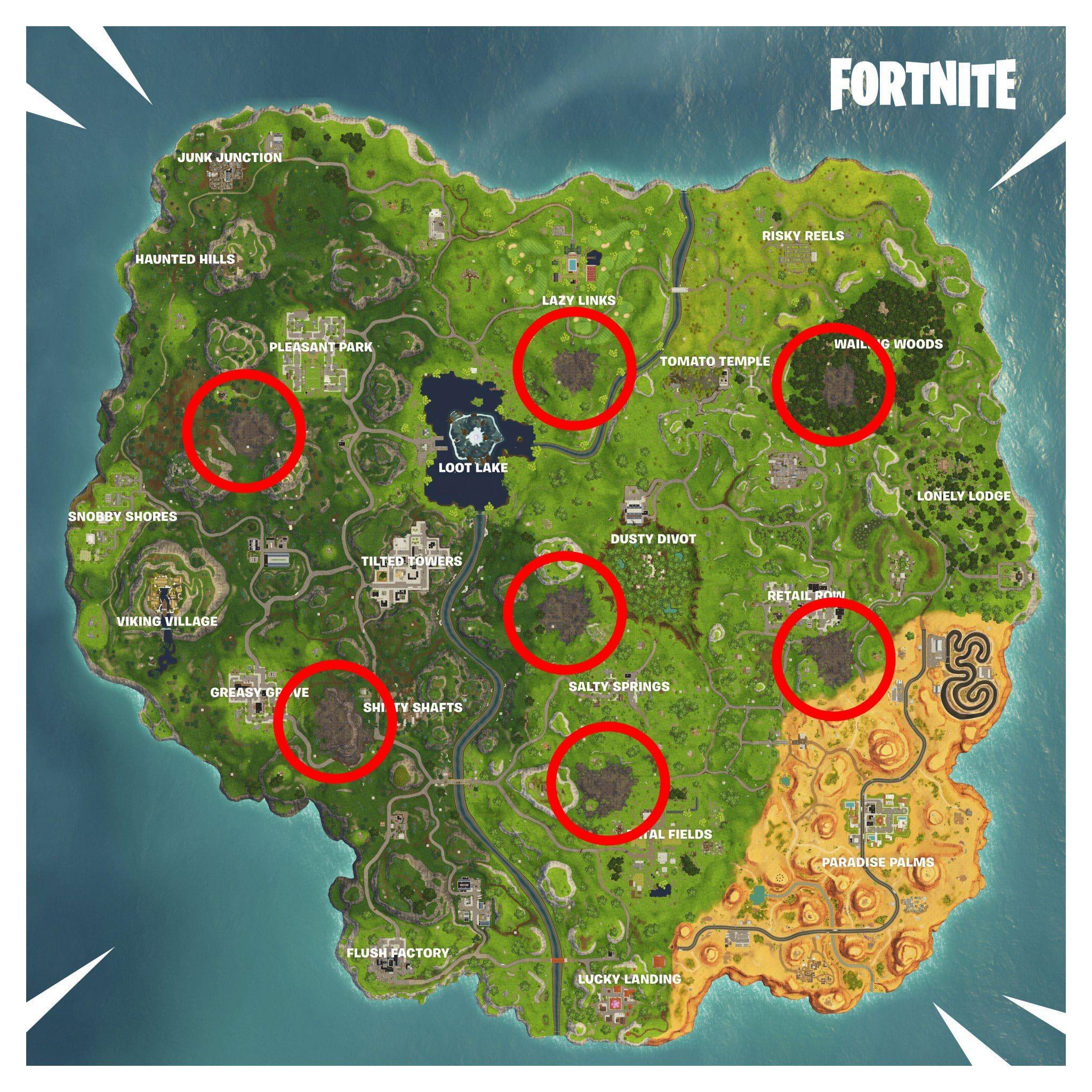 Mapa Fortnite Temporada 4.Elimina Enemigos Cerca De Cualquier Zona Corrupta
