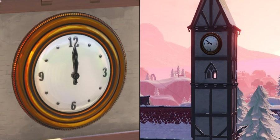 Dónde 'Visitar tres relojes diferentes' para Desafíos Semana 8 Temporada 9 Fortnite