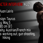 Character interview: Kuon 1
