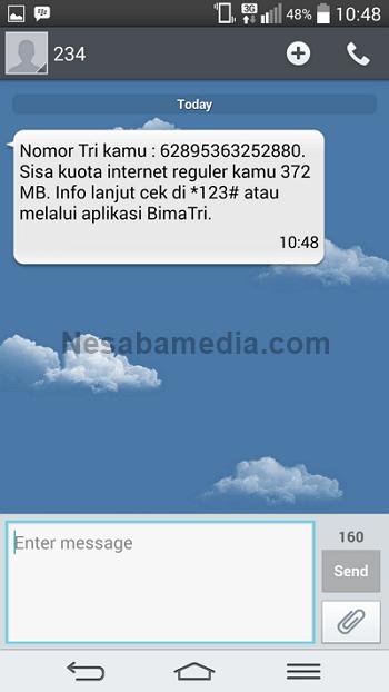 balasan berupa sms