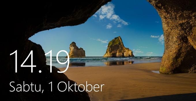 cara kustomisasi lock screen windows 10