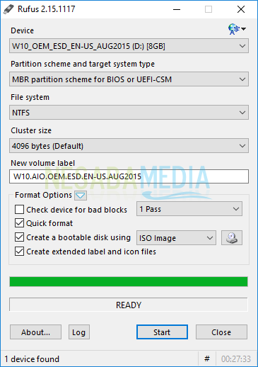 flashdisk sudah siap digunakan untuk instalasi windows 10