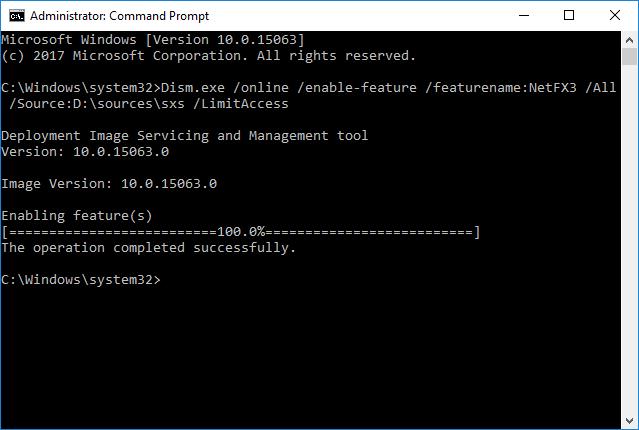 net framework 3.5 windows 10 offline