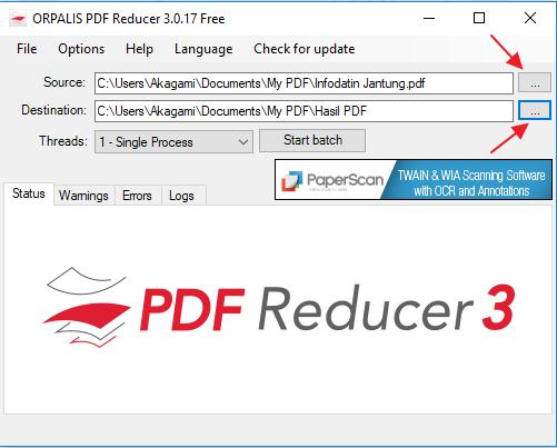 cara kompres file pdf dengan software