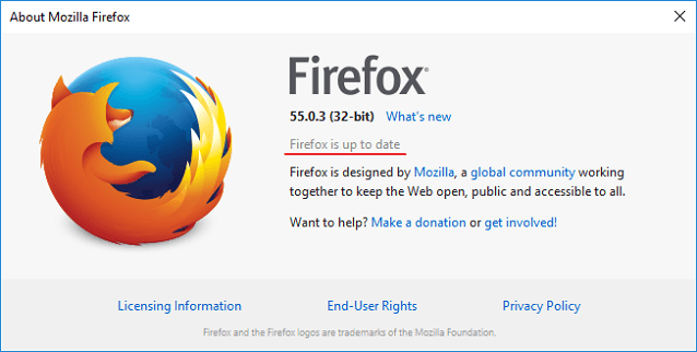 update browser mozilla 4