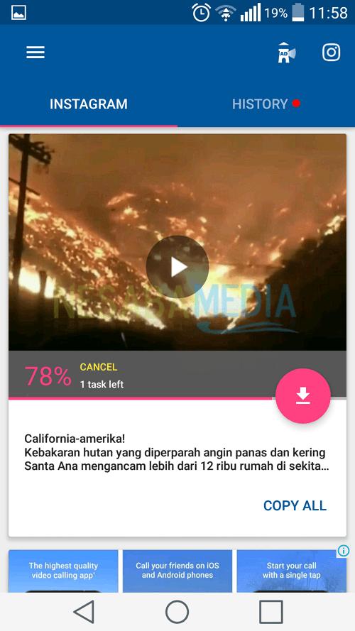 cara download video di instagram lewat HP Android